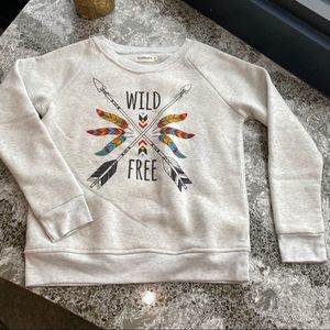 Wild Free Tribal Pullover Sweater, S
